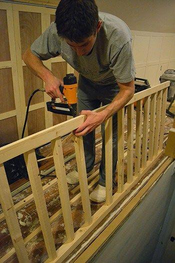 Best Diy Stair Case Banister Attic Renovation Attic Remodel 400 x 300