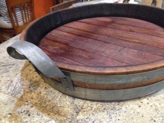 Wine Barrel Tray by rewined2012 on Etsy, $130.00