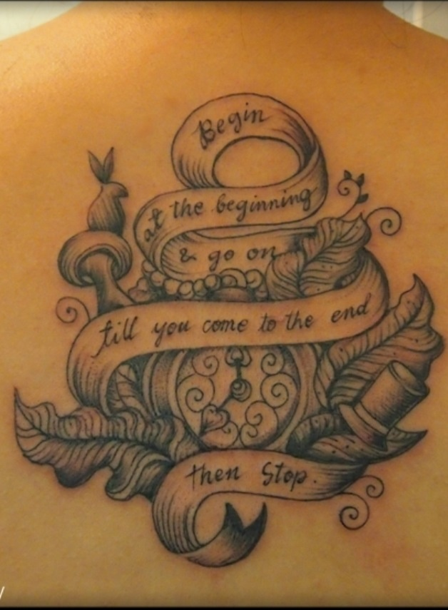 Alice in wonderland tattoo i am obsessed with alice in for Stop watch tattoos