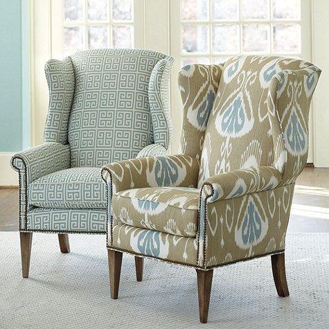 Maybe I can update my wing chair with nail head trim instead of reupholstering