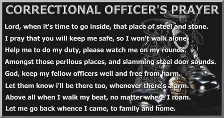 correctional officer prayer | correctional officer ...
