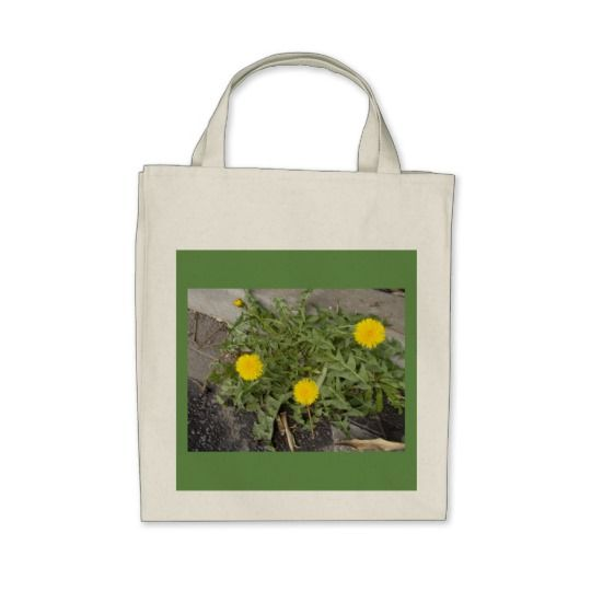 100% Cotton Shopping Bag (tote) with dandelions