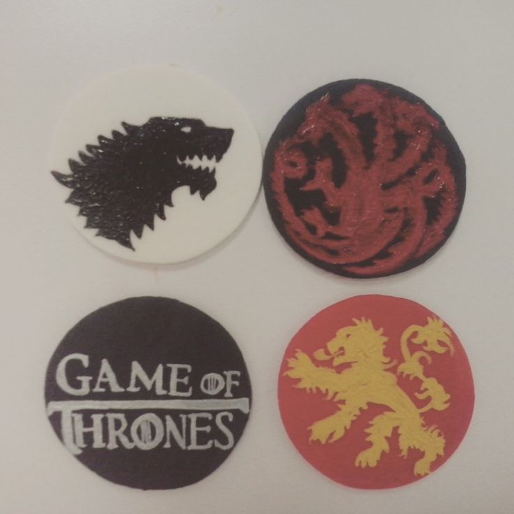 Game of thrones handpaint in gumpaste, for cupcakes toppers