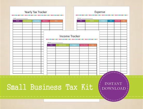 Small Business Tax Kit  Printable and by MBucherConsulting on Etsy