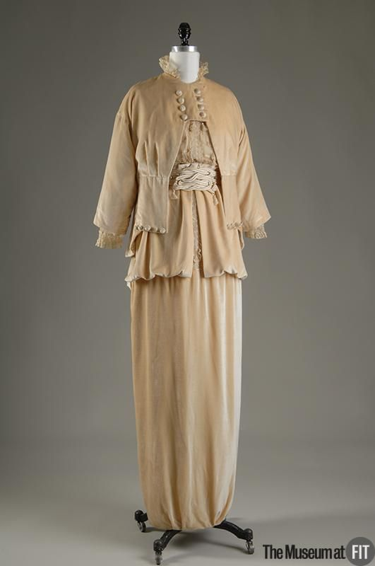Afternoon suit    People and Brands:  Designer: Lucile    English, 1863 - 1935  Medium: Velvet and lace  Date: c.1913