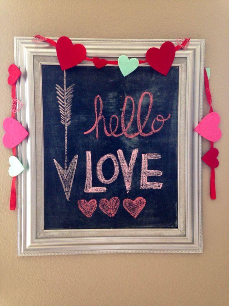 Valentines Day chalkboard art