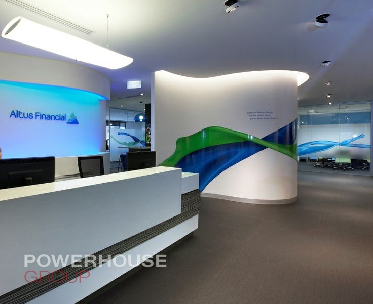 Office Fit Out, Reception, Curve Walls, Graphics