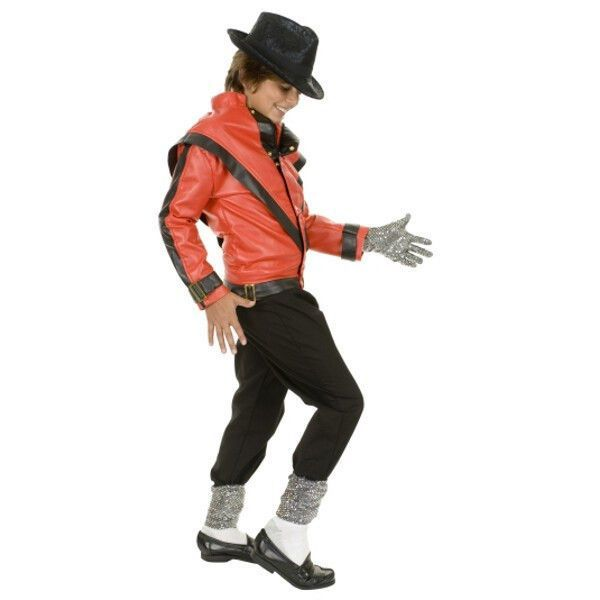 Fancy Dress Jackson Michael Thriller Costume Superstar Red Jacket// Trousers