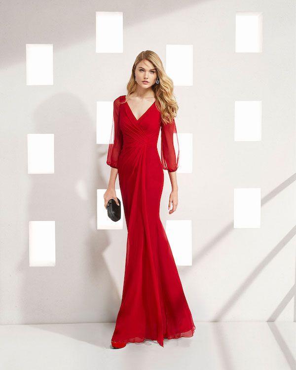 2fed4e55 Vestidos de fiesta rojo Rosa Clará 2019 #vestidosdefiesta #vestidoslargos  #vestidosdecoctel #vestidoscortos #modamujer #moda #fashion #catalogosropa  ...