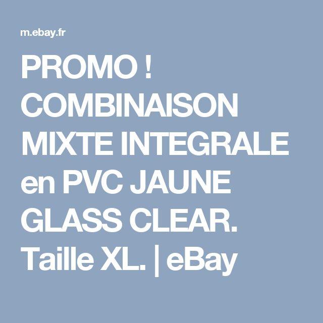 PROMO ! COMBINAISON MIXTE INTEGRALE en PVC JAUNE GLASS CLEAR. Taille XL. | eBay