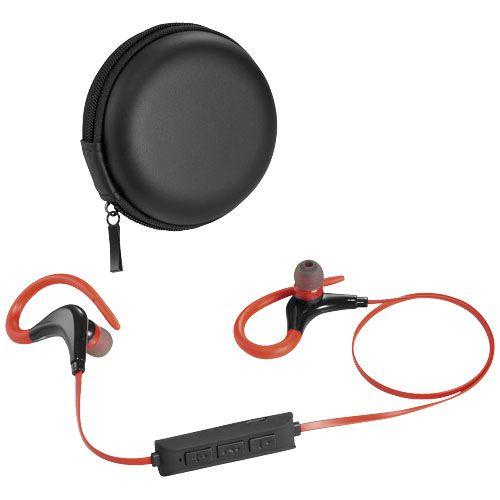 Auricolari Bluetooth® Buzz. Dimentica i cavi, ma preserva la qualità audio dei tuoi auricolari preferiti. Gli auricolari Bluetooth Buzz si collegano senza filo a tutti i dispositivi compatibili fino a 10 metri di distanza. La flessibilità dei ganci di questi auricolari li rende perfetti per l'allenamento. Inoltre sono dotati di una funzione di controllo integrata che consente di rispondere al telefono e gestire la riproduzione musicale.