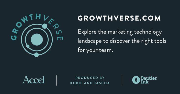 An interactive visualization of the marketing universe. With input from over 100 CMOs Growthverse represents a taxonomy of the marketing technology ecosystem.