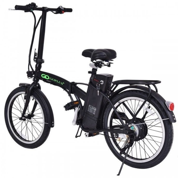 """Folding Electric Mountain Bicycle Travel RV Lithium Battery 20"""" Black 250 w 36 W #costway"""