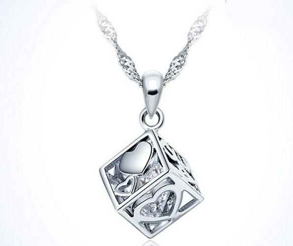 La Luna Women's Necklace Pendant Rhodium Plated 925Sterling Silver Ethnic Ring Rose Quartz YlsvABh