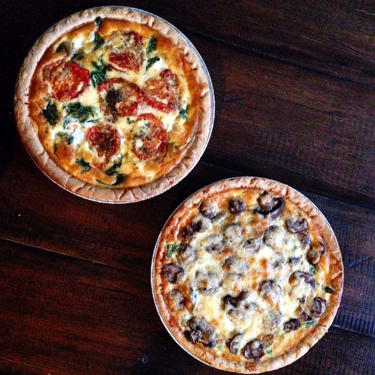 Roasted Tomato, Mozzarella, and Spinach Quiche Recipe