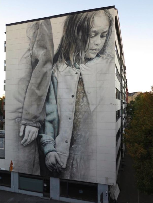 "Guido van Helten - ""Muistot Unelmien"" (Remembering a Dream) - for UPEA 2016 / Katutaide - Helsinki, Finland - Oct 2016"