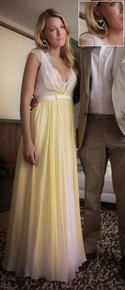 Serena's yellow gown on Gossip Girl season 6.  Outfit Details: http://m.wornontv.net/5345/