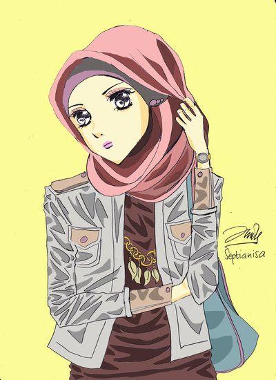 hijab anime looks a bit bad ass here