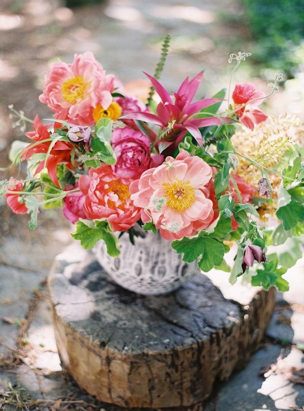 pink-peony-bright-tropical-bouquet-urn-vase..a closer look.  YUM!
