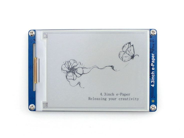 4.3inch e-Paper 800x600 Resolution E-ink Display Module Serial Interface Electronic Paper Display Free Shipping