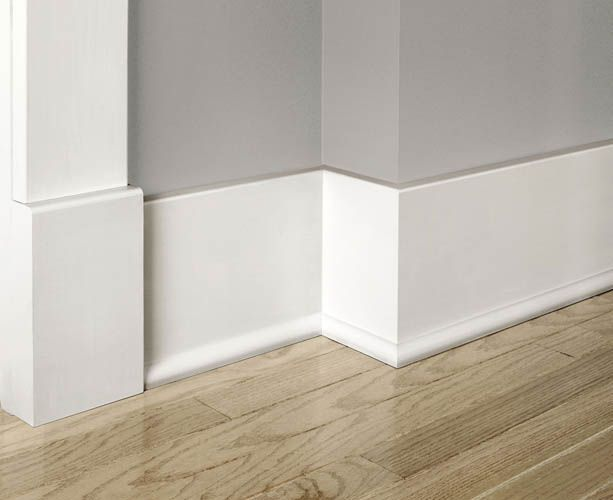 A clean look for baseboard molding.