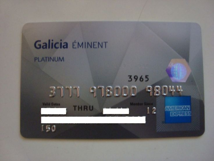 American Express | Eminent Platinum | Galicia Bank Argentina