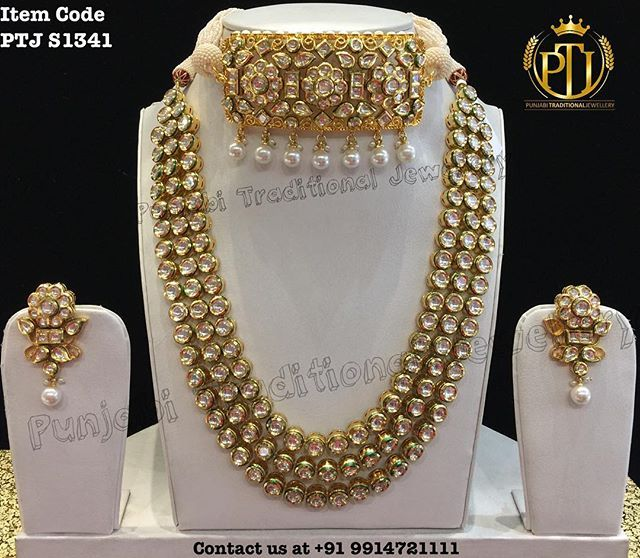 "Punjabi Traditional ""Gold Plated Kundan Set""(Next to Real) Item Code - PTJ S1341 For price please inbox with Image or WhatsApp at this number +91 9914721111 or you can email us at Punjabijewellery@gmail.com #Punjabi #traditional #jewellery #jewels #kundan #tika #earring #wedding #viah #sikh #shagun #hudabeuty #calofornia #usa #australia #canada #uk #kuwait #punjab #insta #facebook #fashion #bollywood #online #churra #payal #jhanjran #anklet"
