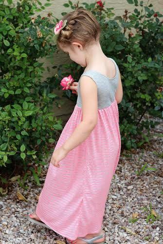 Maxi Dress for Girls sewing pattern by SeaminglySmitten