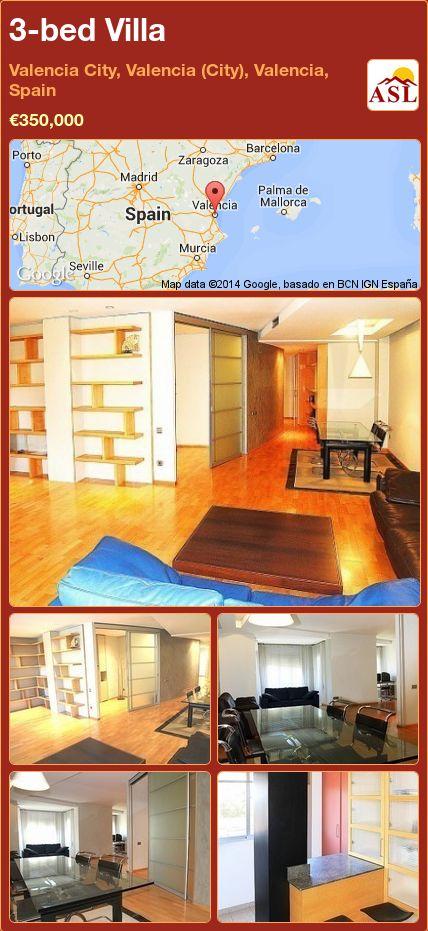 3-bed Villa in Valencia City, Valencia (City), Valencia, Spain ►€350,000 #PropertyForSaleInSpain