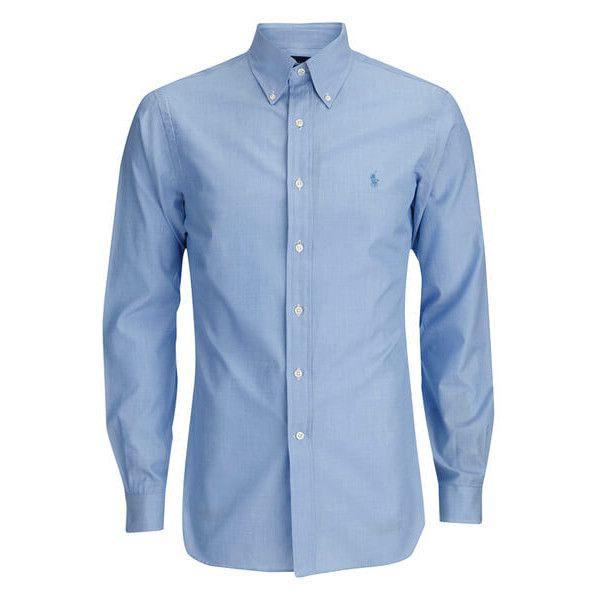 Polo Ralph Lauren Men's Tonal Logo Dress Shirt - Blue (3.660 RUB) ❤ liked on Polyvore featuring men's fashion, men's clothing, men's shirts, men, male clothes, tops, blue, mens blue dress shirt, mens polo dress shirts and polo mens clothing