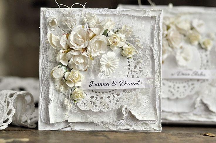 From Ewa Mrozowska, aka Cynka Poletko, in Wielkopolska, POLAND. wedding card @ cynkowe poletko