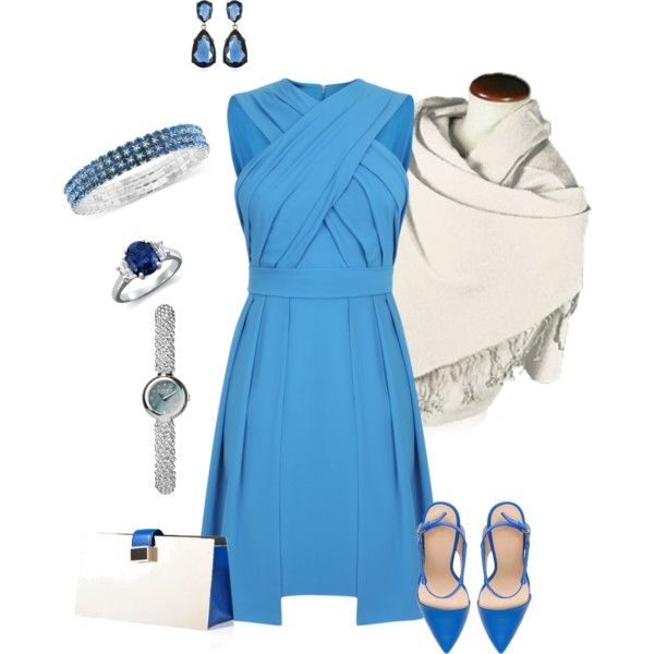 """""""Blue Dress Outfit"""" by hread on Polyvore"""