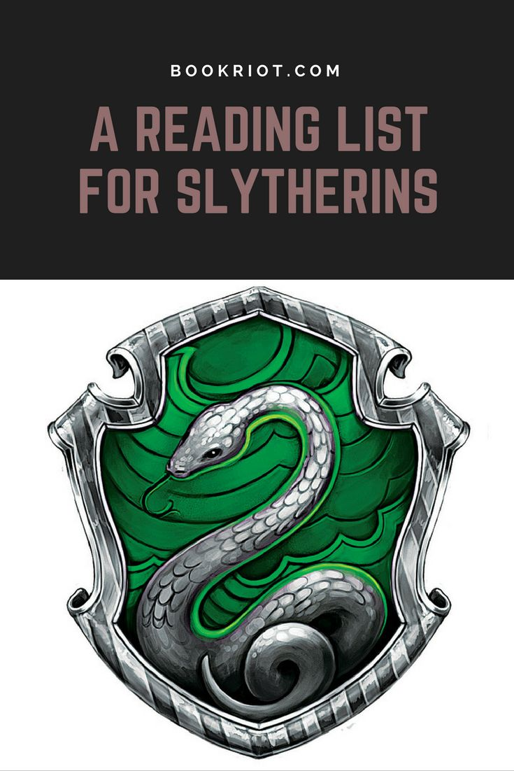 A reading list for Slytherins.