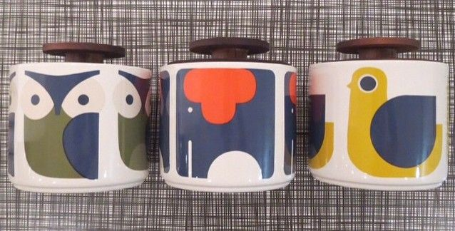 Coming soon: Orla Kiely animal storage jars