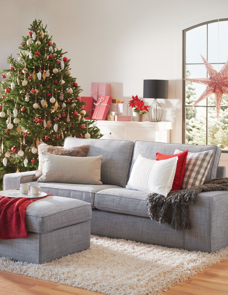 Create the ultimate cozy space for the Holiday season with a KIVIK sofa.