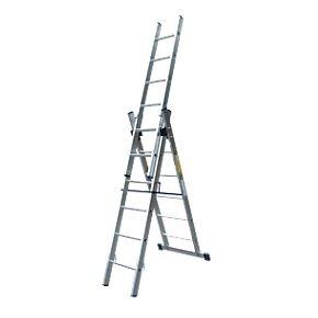 Lyte Combination Ladder 3 x 6-Rung 6-Way Aluminium