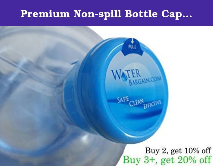 Premium Non-spill Bottle Caps - Quantity of 25 - BPA Free!. BPA FREE! These caps work perfectly for anyone re-filling their water cooler bottles for your home or office. These are identical caps to ones that bottling facilities use when packaging new water bottles, and will save a ton of money over using a water delivery service. Simply remove the old cap, refill the bottle, and snap on the new cap to create an air-tight seal and create a sterile environment for crystal-clear water…