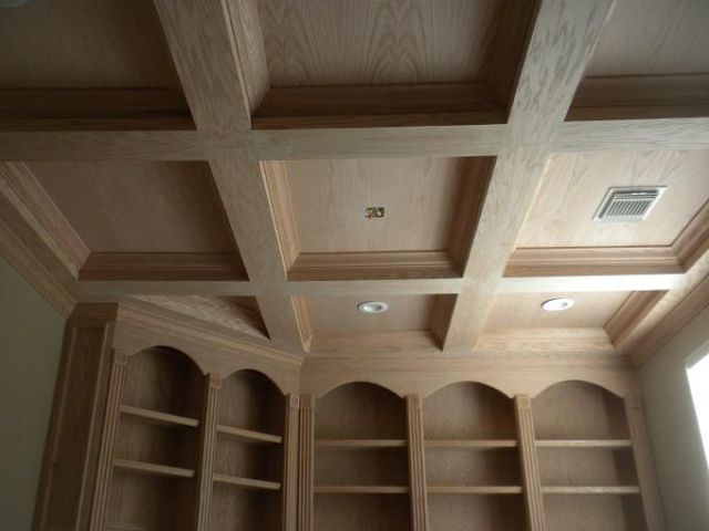 custom computer desk coffered ceiling remodeling home office remodel cabinets