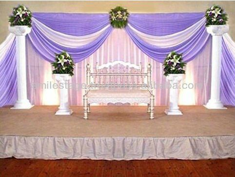 Event drapery wedding drapery backdrop for Backdrops for stage decoration