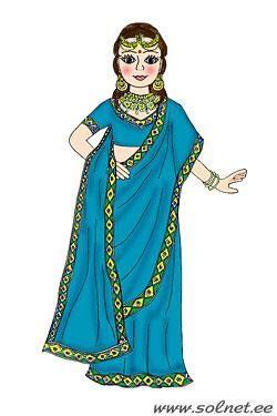 Как сделать костюм индийки
