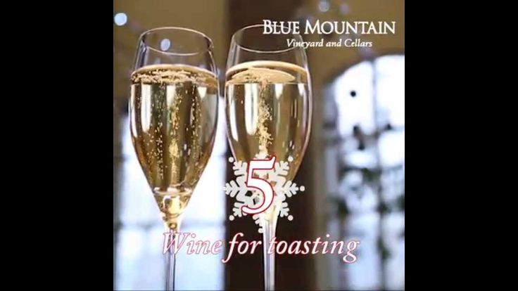 12 DAYS OF CHRISTMAS - Day 5: Wine for toasting.... Blue Mountain 2006 Reserve Brut R.D.!  To enter our 12 days of Christmas contest visit: http://www.bluemountainwinery.com/blog/12-days-of-christmas-with-blue-mountain