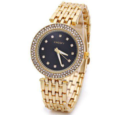 Llévalo por solo $38,900.Fresca impermeable de los hombres reloj de cuarzo con diamantes redondos del dial del análogo de acero correa.