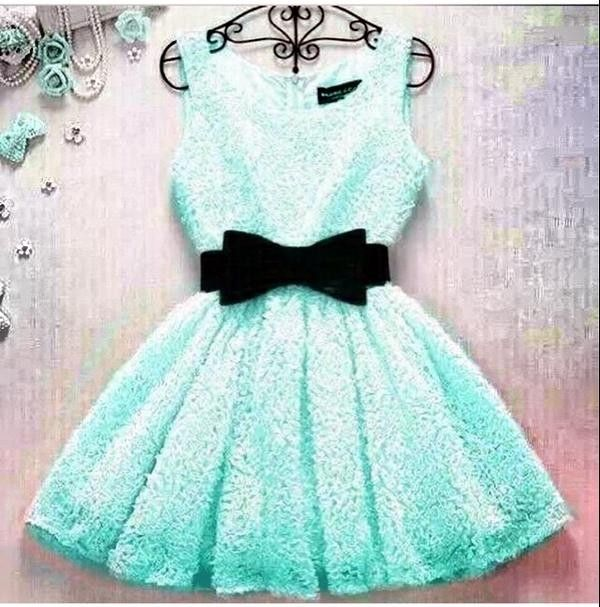 light blue lace dress - Fashion Blog