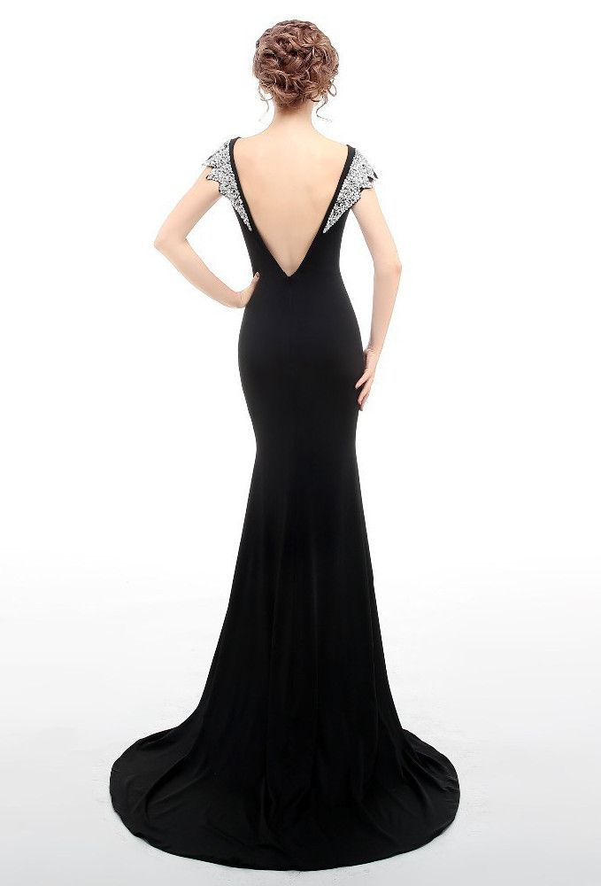 1930s bias sequin backless fishtail lombard glamour gown black - Ideen Fur Einrichtung Glamour Pur Im Hollywood Stil