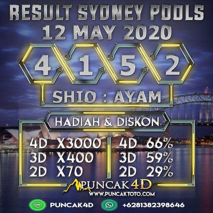 RESULT SYDNEY POOLS SELASA 12 MEI 2020 4 1 5 2 SAH SHIO