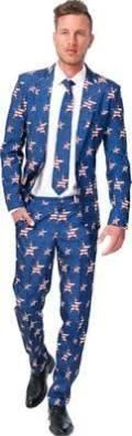 Adult USA! American Flag Suit - Size - Large - Men's Halloween Costumes - Brought to you by Avarsha.com