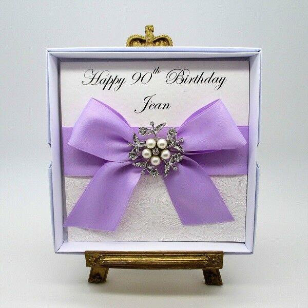 Happy Birthday Diamante Luxury Ribbon