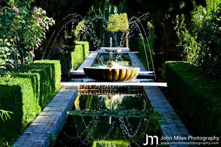 The Alhambras Gardens, Granada, Spain
