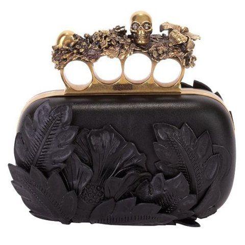 Clutch.Fashion, Style, Alexandermcqueen, Boxes, Alexander Mcqueen Clutches, Brass Knuckle, Black, Purses, Bags