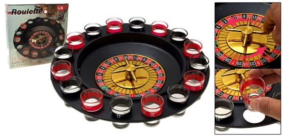 Roulette Shot Glass Bar Drinking Game Set